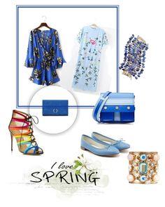 """Yoins dresses # Spring"" by steffyyeah on Polyvore featuring moda, Salvatore Ferragamo, Repetto, Kenzo, Rosantica e J.Crew"