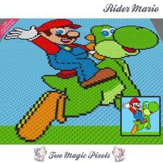 Rider Mario C2C Crochet Graph | Craftsy