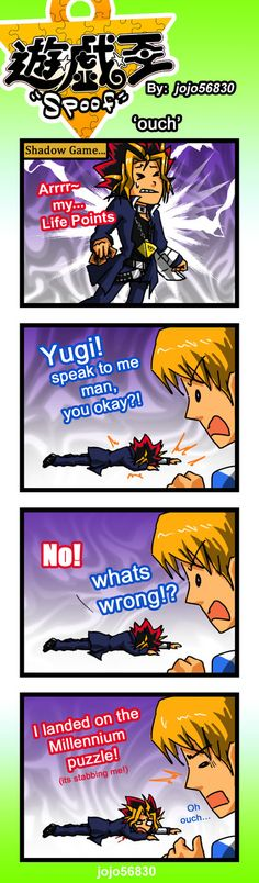 Ow.... >^<  Yu-Gi-Oh!  YGO Spoof: ouch by jojo56830 on DeviantArt