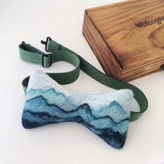 Exclusive needle felted artisan bow tie.