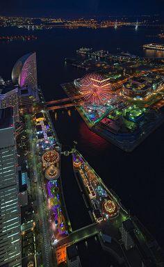 Night view of Yokohama, Kanagawa, Japan