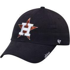 0923900b0928d Women s  47 Navy Houston Astros Sparkle Clean Up Adjustable Hat -- Astros  Cap