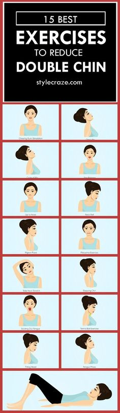 #Double Chin : Do you have a double chin? Do you feel it is limiting your beauty? Given here are the top 15 double chin exercises for you to check out. Read on to know more #fitness #fitnessexercises