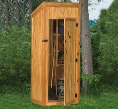All Yard & Garden Projects - Outhouse Tool Shed Wood Project Plan