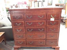 Dark Brown w/15 Drawers, 60″x18.5″x54.5″