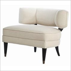 Pros: style/form  Cons: Price Arteriors Home Laurent Muslin Solid Wood Chair