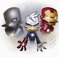 Chad Townsend - Ducktales Mash Ups Iron Man