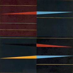 Ivan Serpa (1923 - 1973)   Ritmos resultantes, (1953) | Oil on canvas   39⅜ x 39⅜ in. (100 x 100 cm).