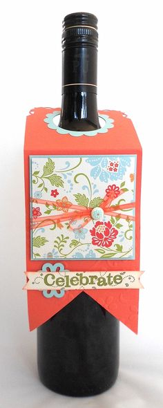 I need to make some of these just in case - perfect touch for a gift of wine Simone Bartrum, Stampin' Up!