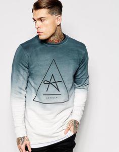 Bild 1 von Antioch – Langes Sweatshirt mit Batikmuster