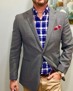 Get debonair this season with vivid and bold accessories like this dashing paisley patterned handkerchief in primary hues of pinks, blues, reds and greens. Men's Pocket Squares, Paisley Pattern, Blues, Suit Jacket, Style Inspiration, Red, Pink, How To Wear, Jackets