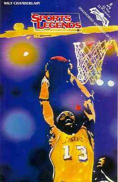 RARE  WILT CHAMBERLAIN  COMIC BOOK LOS ANGELES LAKERS e168878a2