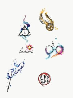 Aquarell Harry Potter Tattoos von Lady Pirates Tattoo Studio in Leigh-on-Sea, . - Aquarell Harry Potter Tattoos von Lady Pirates Tattoo Studio in Leigh-on-Sea, Essex - Arte Do Harry Potter, Harry Potter Quotes, Harry Potter Love, Harry Potter Fandom, Harry Potter World, Harry Potter Snitch, Small Harry Potter Tattoos, Always Harry Potter Tattoo, Harry Potter Drawings Easy