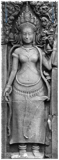 Apsara Apsaras are beautiful, supernatural female beings. They are youthful and elegant, and superb in the art of dancing. They are often wives of the Gandharvas, the court musicians of Indra. They dance to the music made by the Gandharvas, usually in the palaces of the gods, entertain and sometimes seduce gods and men. As ethereal beings who inhabit the skies, and are often depicted taking flight, or at service of a god, they may be compared to angels.