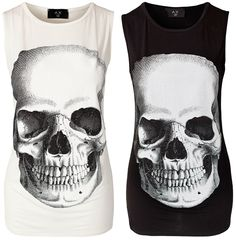 Skull tank by AX Paris. (Want, but they're unavailable. Sad.)