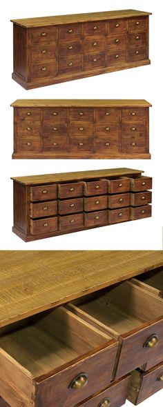 Sofa table, media console, sideboard—Our Pulsman Chest is the Renaissance man of home furnishings. Crafted of solid reclaimed pine awash in warm coffee tones, the sizable chest features 15 functioning ...  Find the Pulsman Chest, as seen in the London's Chic Artist Residence Collection at http://dotandbo.com/collections/londons-chic-artists-residence?utm_source=pinterest&utm_medium=organic&db_sku=120995