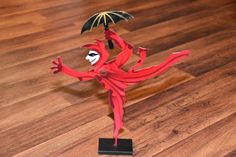 "nice JUDIE BOMBERGER Signed Metallic Sculpture DEVIL FOOL DANCING IN THE RAIN 13"" crimson Check more at https://aeoffers.com/product/arts-and-crafts-collectibles-handmade-online/judie-bomberger-signed-metallic-sculpture-devil-fool-dancing-in-the-rain-13-crimson/"