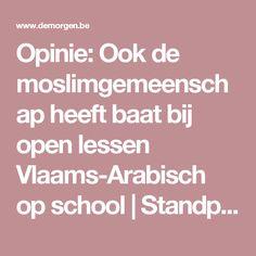 Opinie: Ook de moslimgemeenschap heeft baat bij open lessen Vlaams-Arabisch op school | Standpunt | De Morgen