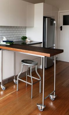 simple industrial kitchen island