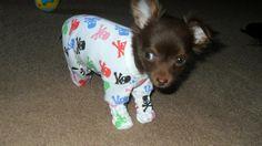 My little baby in his onesie pajamas!
