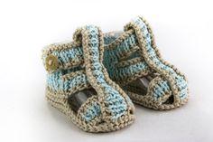 KNITTING PATTERN, Baby Boy Sandal Pattern, Roman Sandal Pattern, Three Sizes, Easy Baby Knitting Pattern, Summer Booties Pattern by heaventoseven on Etsy