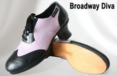 Miller & Ben Tap Shoes: Broadway Diva - Black & Baby Purple