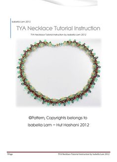 TYA SuperDuo Beadwork Necklace Pdf tutorial by bead4me on Etsy, $10.00