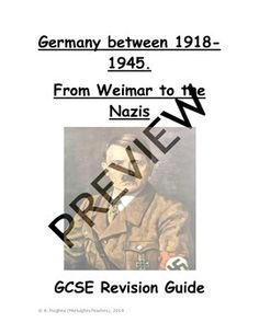 Weimar and Nazi Germany Revision Test Prep 38 page book Revision Guides, Gcse Revision, Teacher Hacks, Best Teacher, Awesome Teachers, A Level History, Practice Exam, School Levels, High School Classes