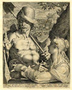 Sexy Noli me tangere - Aegidius Sadeler after Bartolomeus Spranger, 1600  British Museum