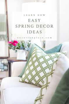 Home Interior Colors Easy & refreshing spring decor ideas that use unexpected colors, natural elements, and soft furnishings to add a fresh touch to any space. Interior House Colors, Home Interior, Interior Ideas, Apartment Interior, Interior Design, Cheap Wall Decor, Cheap Home Decor, Home Decor Signs, Unique Home Decor