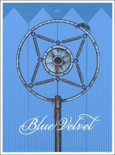 """Blue Velvet"" poster by Ryan Milner David Lynch Movies, Omg Posters, Blue Velvet, Screen Printing, Poster Prints, Design Inspiration, Films, Minimal, Night"