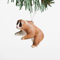 Slow Loris Ornament by le animalé