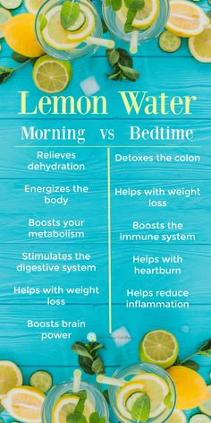 There are tons of benefits to drinking lemon water! But did you know the time of day can affect the health benefits??