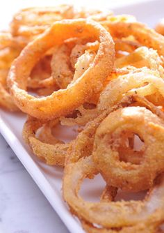 The perfect side dish for any summer meal check out this recipe for yummy, crispy onion rings. | essence.com Onion Recipes, Baking Recipes, Cat Recipes, Vegetable Burger Recipe, Veggie Burgers, Vegetable Dishes, Vegetable Recipes, Crispy Onions