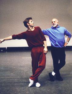 Jerome Robbins and Mikhail Barishnikov