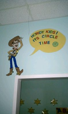 Toy story classroom circle time room