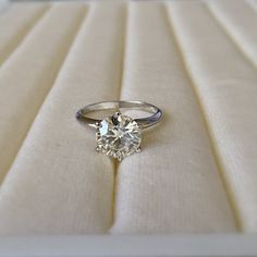 6.5mm Charles & Colvard Forever Brilliant Moissanite Round Solid Platinum 1 Carat 6 Prong Solitaire Ring