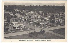Vintage residence Section,, Mineral Wells Texas TX Postcard