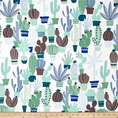 Alexander Henry June Bug Agave Pool from @fabricdotcom  Designed by De Leon Design Group for Alexander Henry, this cotton print fabric is perfect for quilting, apparel and home decor accents. Colors include shades of blue, shades of green, grey and white.
