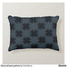 Charcoal grey pattern accent pillow Soft Pillows, Accent Pillows, Throw Pillows, Grey Home Decor, Grey Cushions, Grey Pattern, Decorative Cushions, Dark Grey, Soft Fabrics