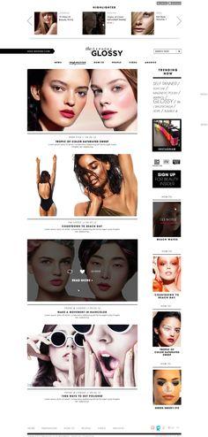 Sephora : The Glossy by Christina Rinaldi, via Behance