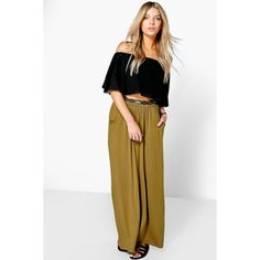 Boohoo Basics Lizbeth Pocket Front Jersey Maxi Skirt (€18) ❤ liked on Polyvore featuring skirts, olive, white jersey, olive green maxi skirt, white maxi skirt, maxi skirt and jersey maxi skirt