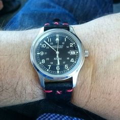 Looks pretty good with the black band and red stitch. http://ift.tt/20l9WFT #latheandgrain #fashion #watchporn #luxurywatches #luxurylife http://ift.tt/1PccBY0