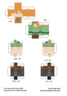 Papercraft Alex (Minecraft 1.8)