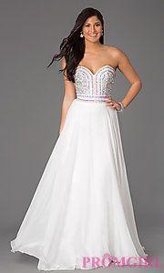 Buy Strapless Sweetheart Floor Length Dress by Rachel Allan at PromGirl
