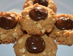 Gluten Free Almond Butter Thumbprints with Dark Chocolate