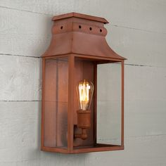Bath Wall Lantern Medium Italian Terracotta by A Place In The Garden Outdoor Wall Lantern, Hanging Lanterns, Outdoor Walls, Outdoor Lighting, Davey Lighting, Interior Lighting, Candle Sconces, Contemporary Style, Terracotta
