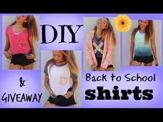 DIY Back to School Shirts & GIVEAWAY - HowToByJordan - YouTube