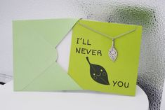 """These """"puntastic"""" funny greeting cards, featuring a dainty leaf jewelry, can make your special someone smile."""
