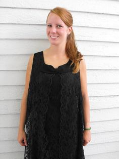 Vintage 60s Black Lace Party Dress Holiday Christmas M by soulrust